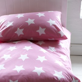 Pink Star Duvet Set for Kids Bedding Bedroom