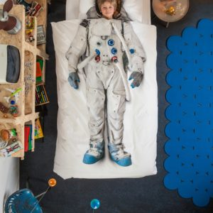 Astronaut Duvet Set - White (Single)