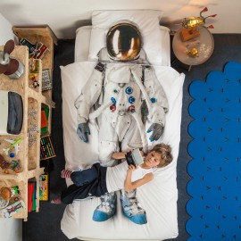 Astronuat Duvet Set for Boys Bedding Bedroom Children Pure Cotton