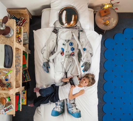 Astronaut Duvet Set - White (Single)