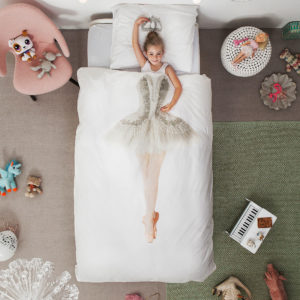 Ballerina Duvet Set - White (Single)