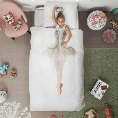 Ballerina Duvet Set - White (Single)
