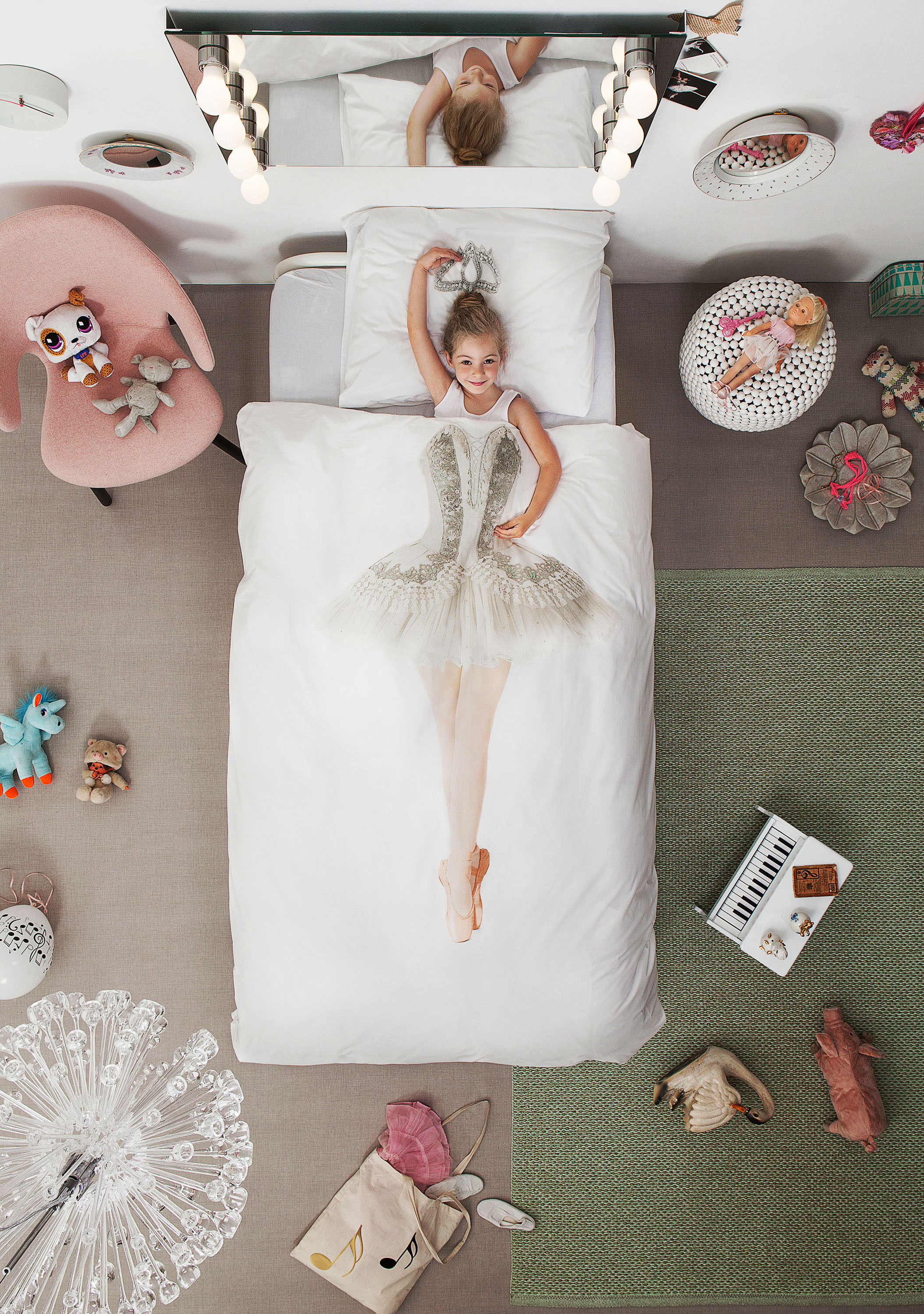 ballerina duvet set for girls bedroom pure cotton bedding