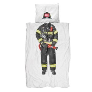 Firefighter Duvet Set - White (Single)