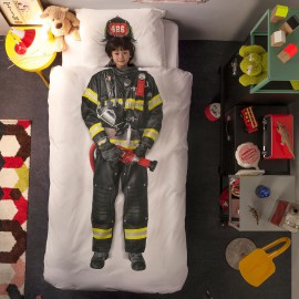 Firefighter Duvet Set for Boys Kids Bedding Bedroom Pure Cotton