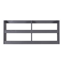 Gallery Wall Rack for Kids Books and Magazine Storage Shelving Solid Wood Steel Grey