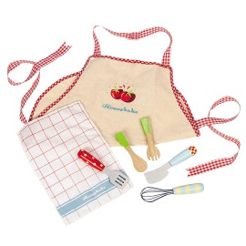 Honeybake Apron and Utensils Set from Le Toy Van Pretend Play for Children Wooden Toys accessories