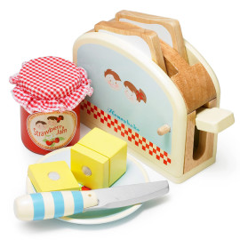 Toaster Set for Kids Pretend Play Le Toy Van Wooden Toys