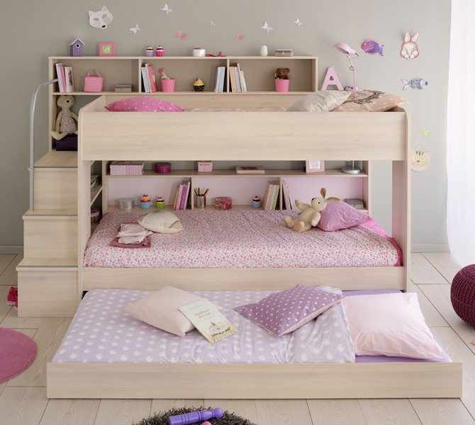 Anderson Acacia Bunk Bed With Truckle For Children In S A