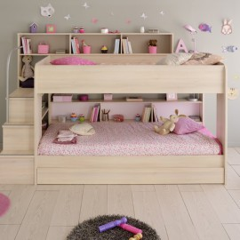 2326_LISU Anderson Bunk Bed with underbed drawer Acacia finish for Kids Bedrooms shared spaces