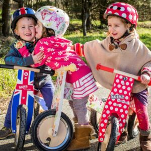 Red & White Dotty Kurve Balance Bike