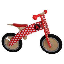 Red Dotty Kurve Balance Bike for Toddler Kids Ride Ons Outdoor Fun