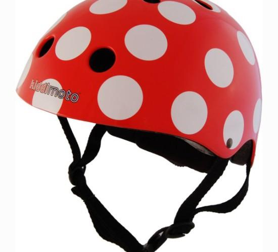 Red & White Dotty Helmet (Small)