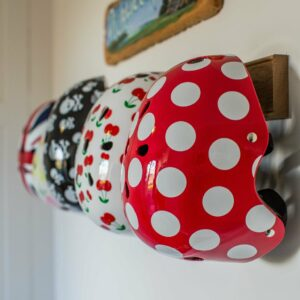 Red & White Dotty Helmet (Small)