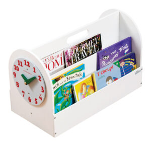 Wooden Book Box - White by Tidy Books®