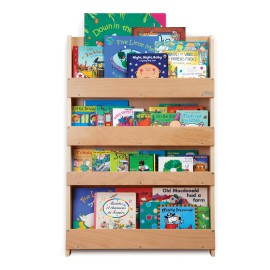 Tidy Books Display Bookcase for Kids Storage Natural Solid Lime Wood