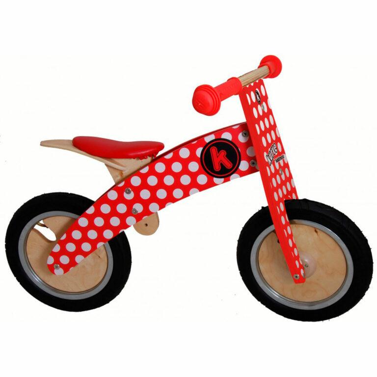 Red & White Dotty Kurve Balance Bike