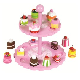 High Tea Shape Matching Toy for Kids Early Learning Solid Wood