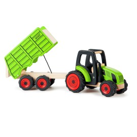 Tractor and Trailer Pretend Play for Kids Wooden Toys Pintoy by John Crane