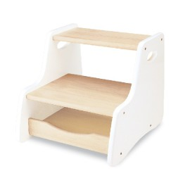 White Step Stool for Children by Pintoy John Crane Furniture for Kids