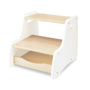 Wooden Step Stool - White