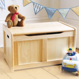 Wooden Toy Chest Natural by Pintoy John Crane Storage for Kids