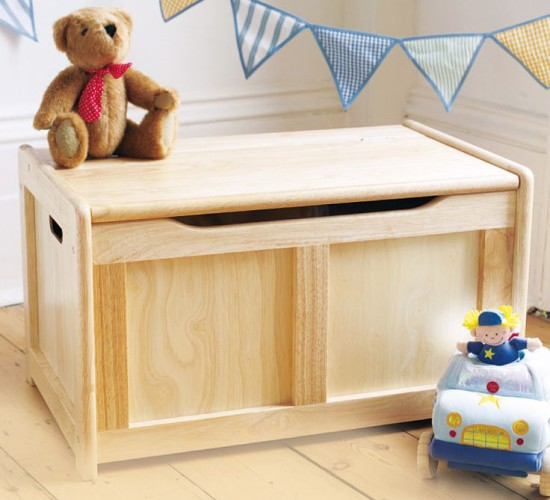 Wooden Toy Chest - Natural