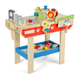 Wooden Workbench for Kids Tidlo by John Crane Pretend Play Front View