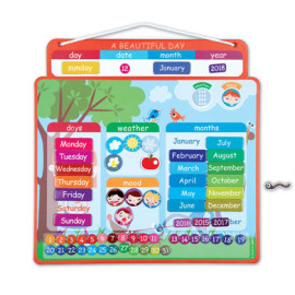 A Beautiful Day Calendar for Kids Magnetic Moods