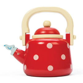 Dotty Toy Kettle For Kids Pretend Play Wooden by Le Toy Van Kitchen