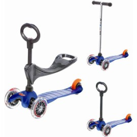 Mini Micro Scooter 3 in 1 Blue Ride On toys  for Children Outdoor Fun