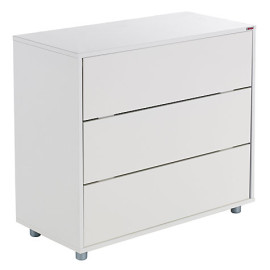 Stompa 3 Drawer Chest for Kids Bedroom Furniture Modular Storage White