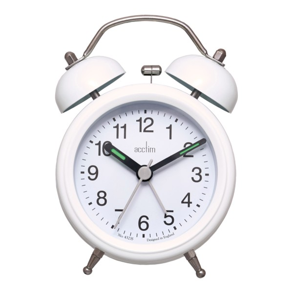 Bell Alarm Clock - White