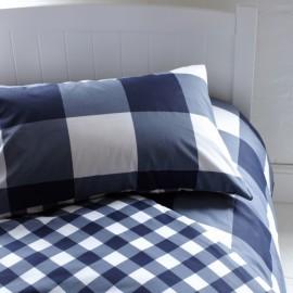 Giant Gingham Duvet Set, Navy for Kids Bedding Bedroom
