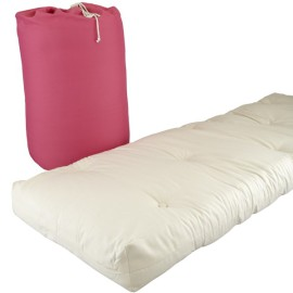 Ellis Bed In A Bag Sleepovers for Kids Futon Mattress Spare Bed Roll Out Bed, Pink