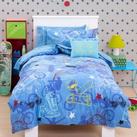 Street_style_duvet_cover_set for Boys bedding pure cotton kids three quarter size