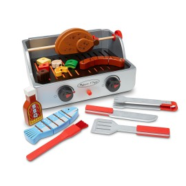 Rotisserie & Grill Barbeque Set Wooden Toys Melissa & Doug Pretend Role Play