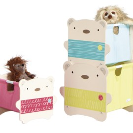 Bear Hug 3 Stackable Storage Boxes for Toddlers Playroom Bedroom Tidy Up