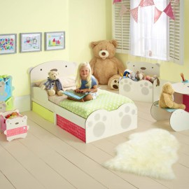 BearHug Toddler Bed with Storage for Kids Bedroom