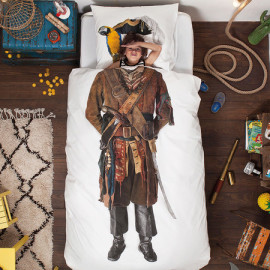 Pirate Printed Single Size Duvet Set for Children Novelty Fun Pure Cotton