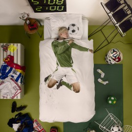 Soccer Champ Duvet Set with Pillow Case for Kids Pure Cotton