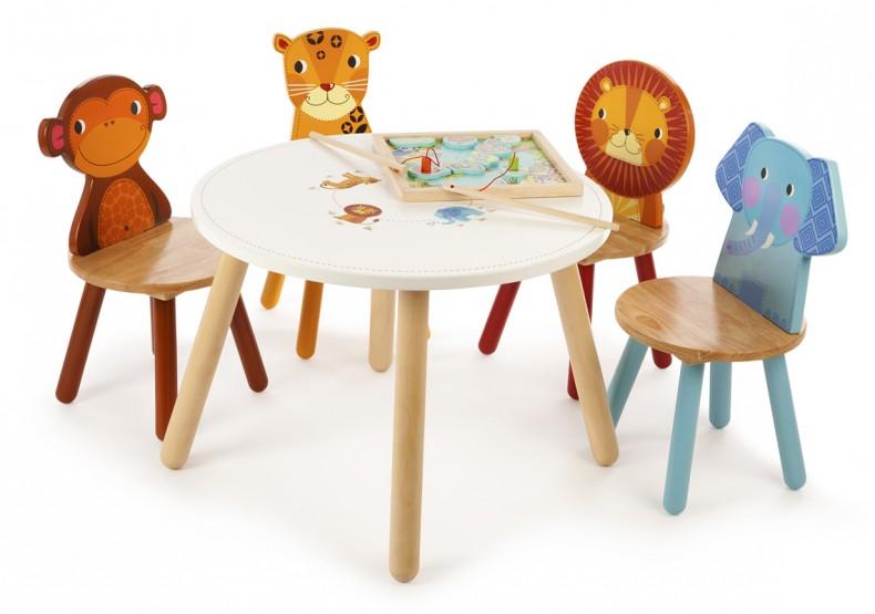 Safari Animal Playtable With 4 Chairs ...