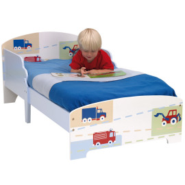 Vehicle Toddler Starter Bed for Boys Children Bedroom