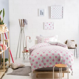 Marie Claire MINI-Dot-Pink-Double Duvet Set for Girls Bedroom