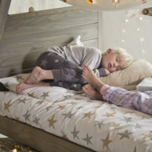 Stars Duvet Set - Metallic (Single)