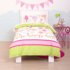 Tree-Tops Single Duvet Set for Girls Bedroom Poly Cotton