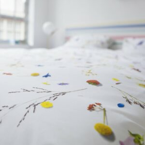 Flower Fields Duvet Set - White (Single)