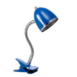 Clips Lamp with Chrome Edge - Blue by Lifetime Kidsrooms 8133