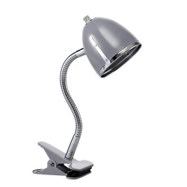 Clips Lamp with Chrome Edge - Grey by Lifetime Kidsrooms 8137