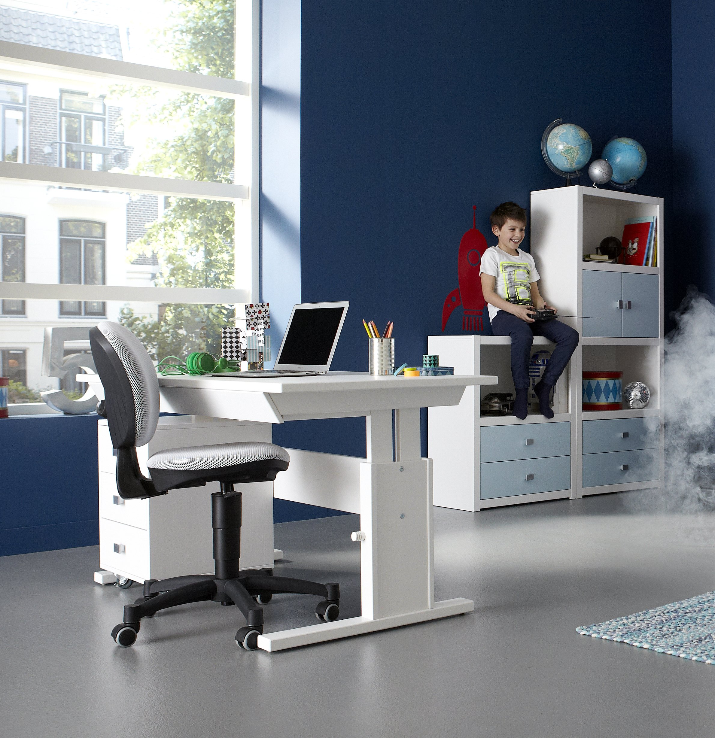 white gray solid wood office. 3 Drawer Unit On Castors Solid Wood White By Lifetime Kidsrooms Gray Office C